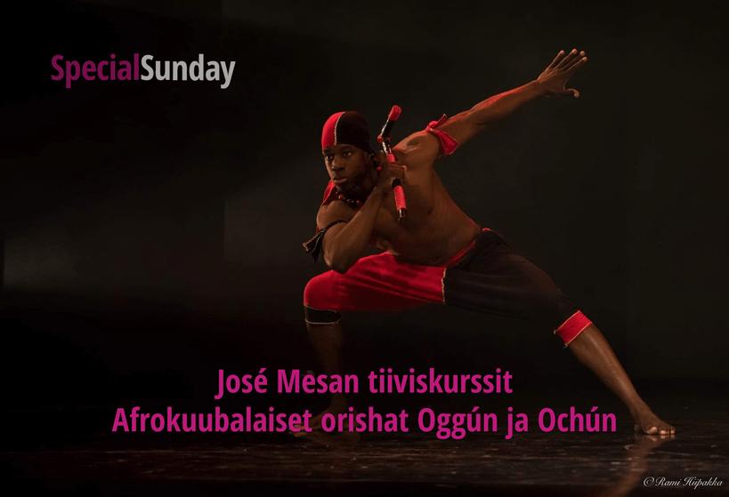 José Mesan afrokuubalaiset orishat Oggún ja Ochún – tiiviskurssi su 15.3. klo 11-13